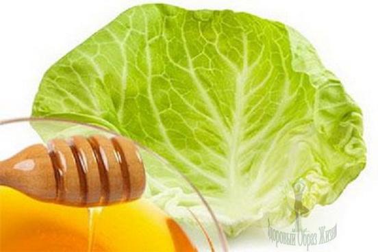 Как сделать компресс из капусты и меда