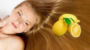 Сок лимона для волос против перхоти