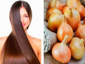 Луковая шелуха для волос против перхоти