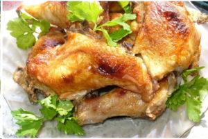 Грибы вешенки с курицей