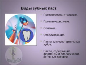 Какие виды зубных паст бывают