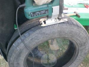 Лобзик для поделки автомобильных шин