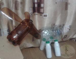 Как делается ослик и пластиковых бутылок