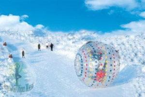Зорбинг со снежных вершин