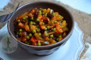 Рагу овощное из морской капусты